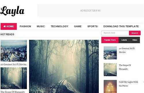 19 Best and Free Modern Style Responsive Blogger Templates
