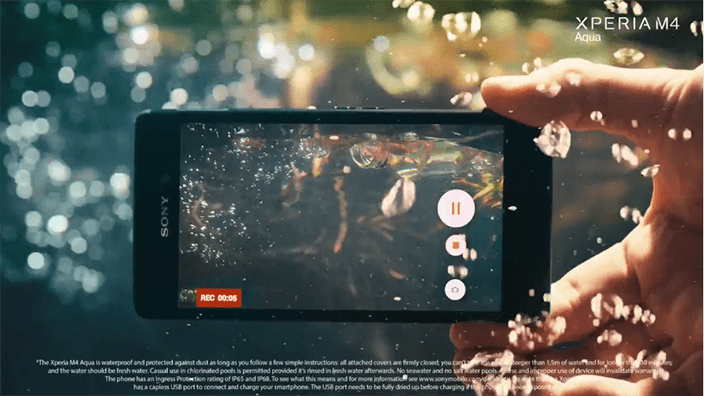 Sony Xperia™ M4 Aqua, a Waterproof Smartphone with Android Lollipop