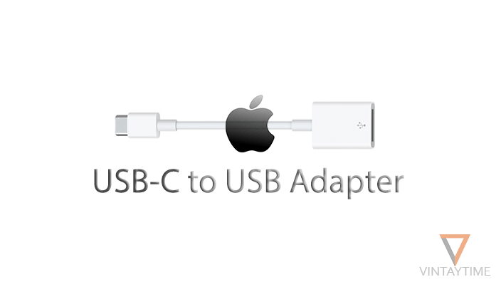 An apple adapter that helps connect USBs to the USB Type-C port