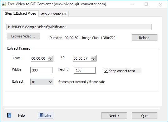 Free Video to GIF converter-min