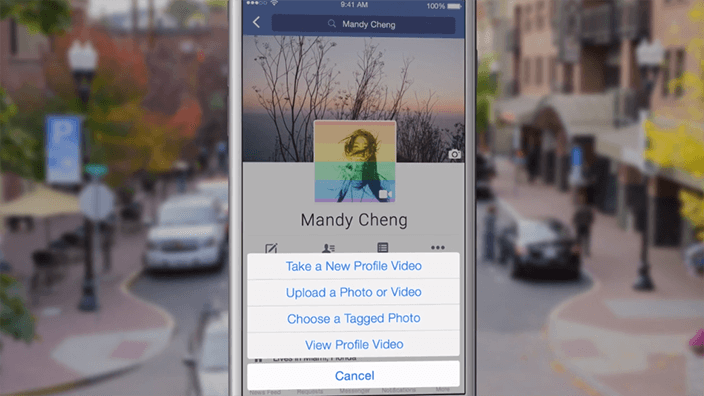 Add a Facebook profile video using phone and other video apps