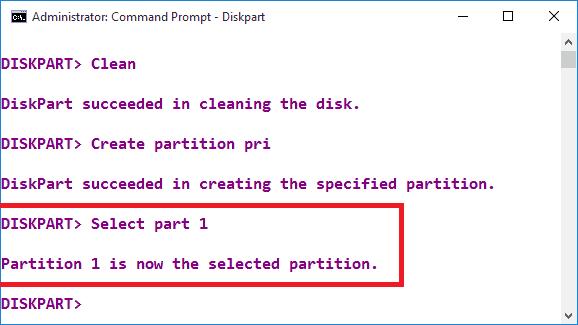 Select part 1