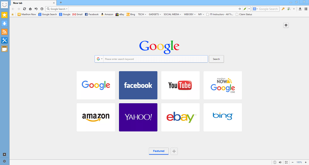 Maxthon Cloud Browser 4.9.3_home_screen