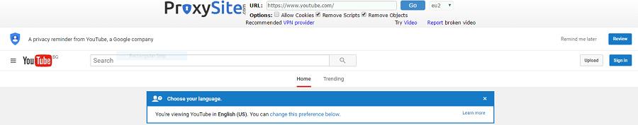 ProxySite-Youtube