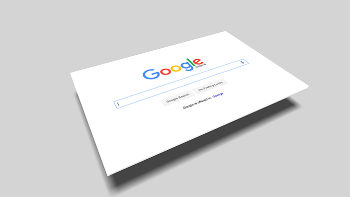 google search 3d page featured