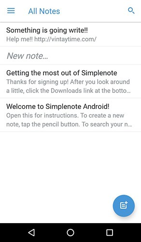 Simplenote for Android