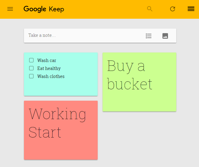 google-keep-web
