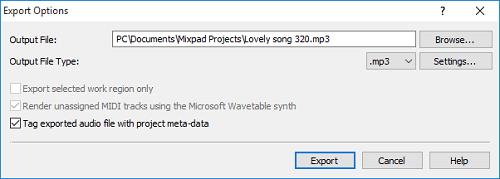 mixpad-export