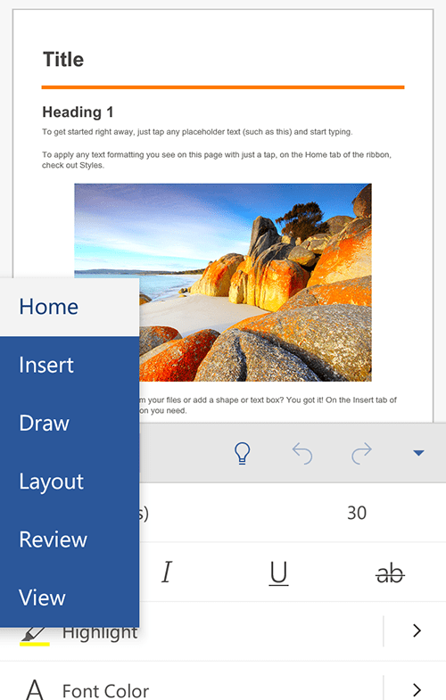 ms-word-android-edit