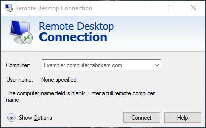 Remote Desktop Connection Windows