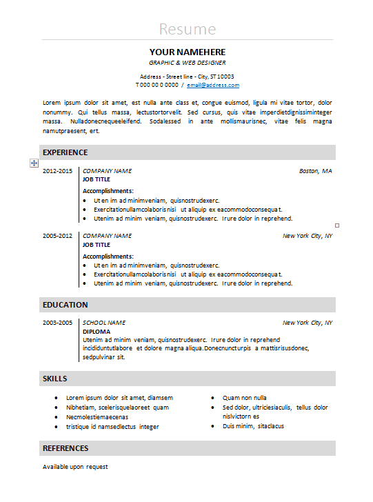 classic resume template word 10 lawyer resume templates free word