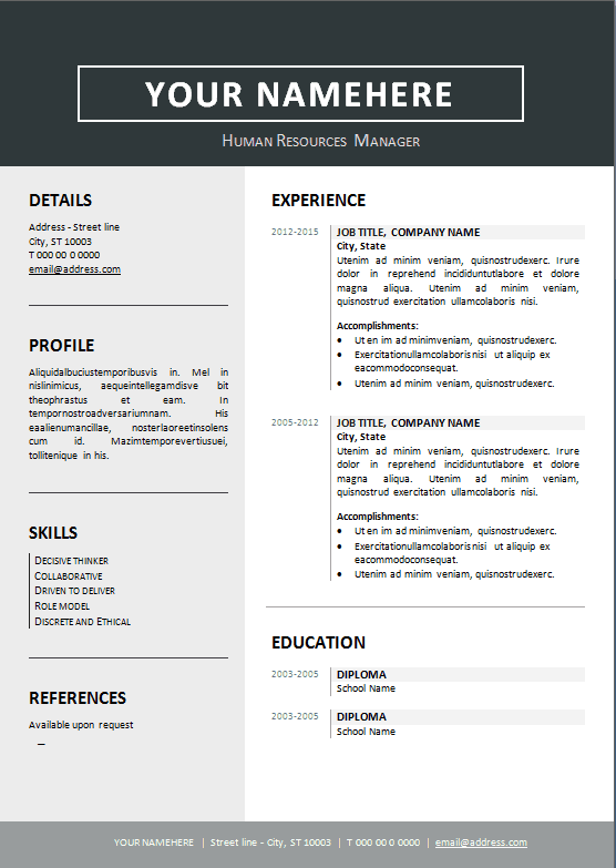 resume-template-format-clean