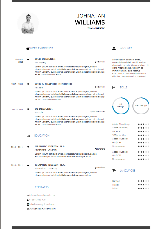 resume-template-format-minimalistic
