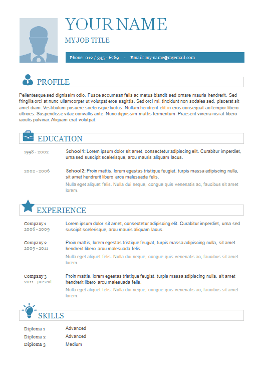 resume-template-format-plain-basic-icons