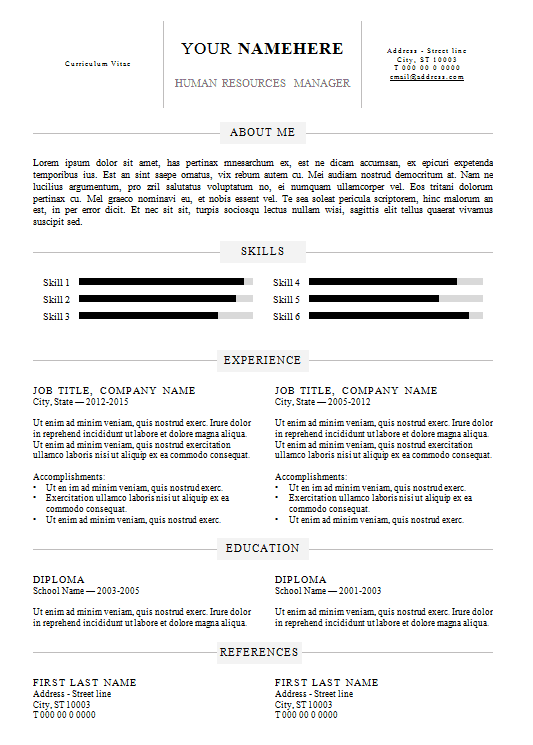 resume-template-format-simple-resume