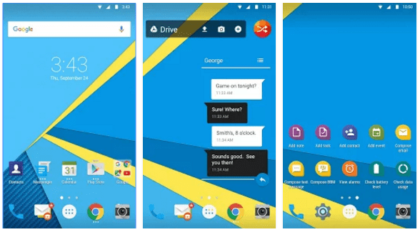 BlackBerry Launcher screenshots