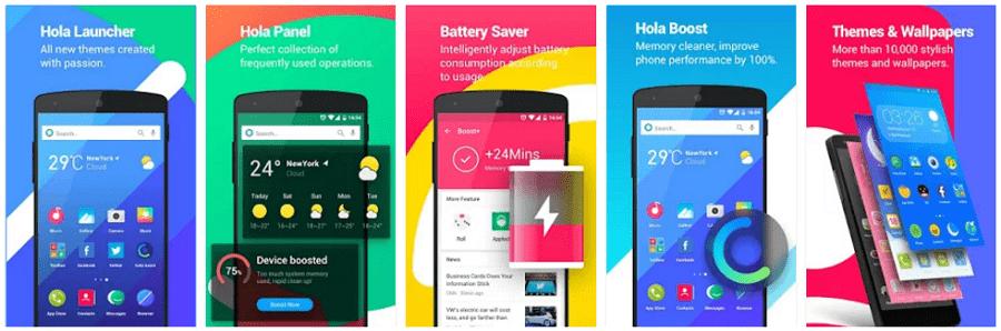 Hola Launcher screenshots