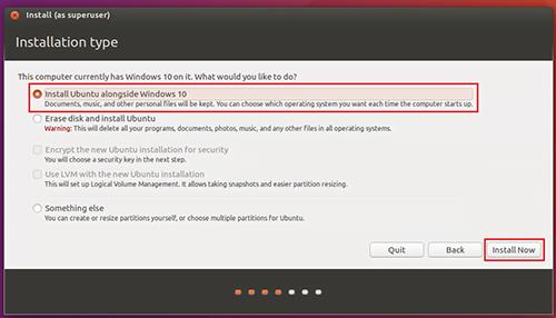 Install Ubuntu Alongside