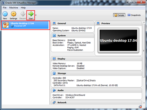 VirtualBox-os-start-button