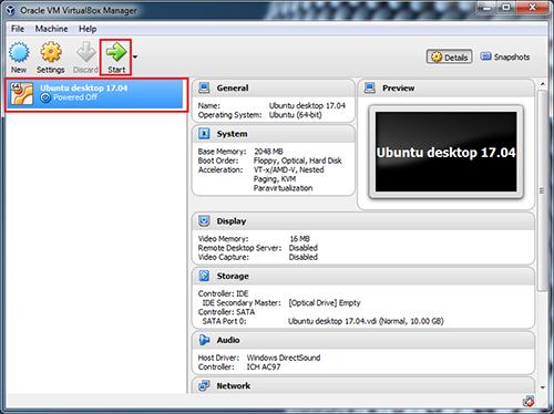 VirtualBox-os-start-button