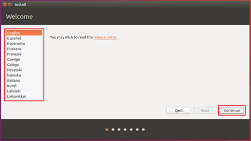 ubuntu-Select your language
