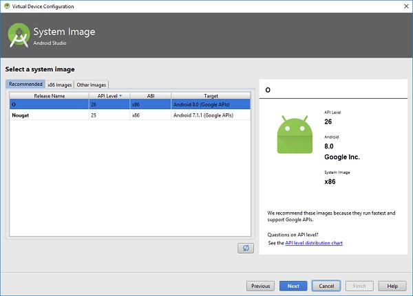 Android Studio oreo 1