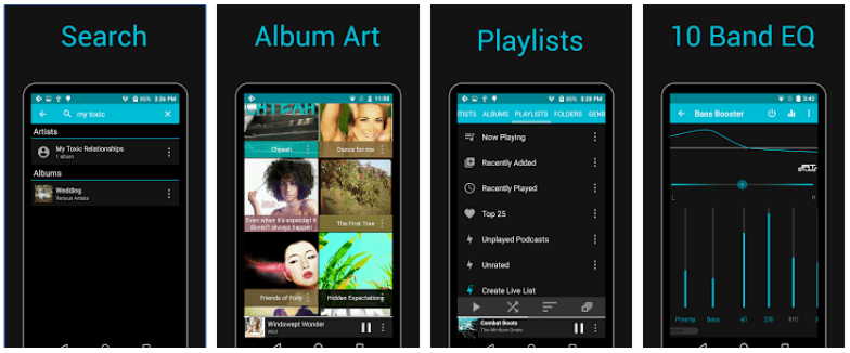 Rocket Player android screenshots