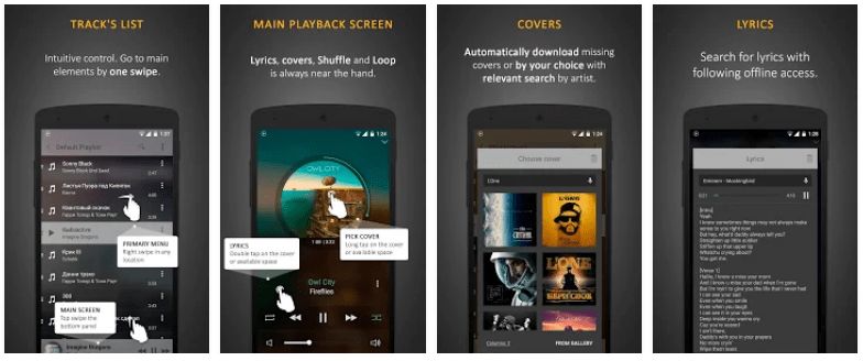 Stellio Music Player android screenshots