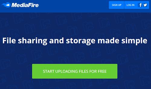 mediafire-homepage