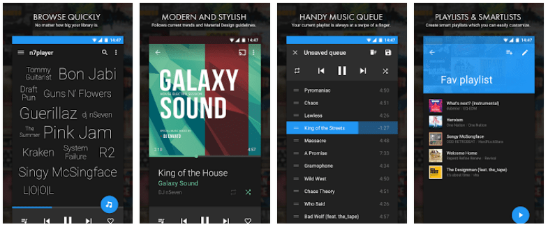 n7player Music Player android screenshots